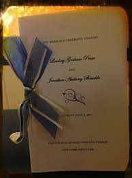 Wedding Programs With Ribbon An Easy Homemade Wedding Program For Overstressed Brides