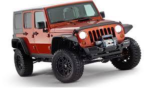 jeep wrangler unlimited flat fenders bushwacker 10918 07 flat style flares for 07 17 jeep wrangler