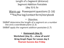 Segment Addition Postulate Worksheet Length Of A Segment Distance Segment Addition Postulate Day 3