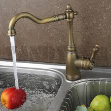 European Kitchen Faucets New High Quality Solid Brass Antique Classical Kitchen Faucet