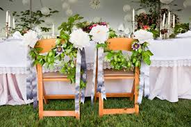 homegrown wedding chair swags