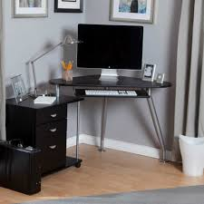 black modern desk unique modern desks for small spaces having free form glass top