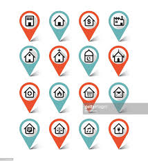 Google Maps Icon Map Markers Icons Set Building Destination Place Vector Art