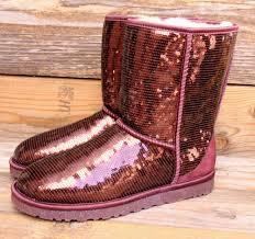 ugg womens lyla boots charcoal ugg australia sparkles port wine sequin boots us 7