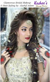 glamorous bridal makeup and hair styling done by kashif aslam