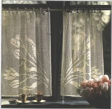 Crochet Kitchen Curtains by Crochet Kitchen Curtain Patterns Notable Blocks In Simple Looking