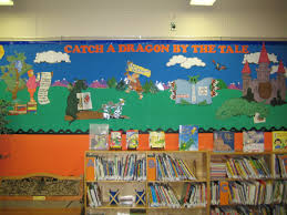room library classroom decorating ideas catch a dragon by the tale