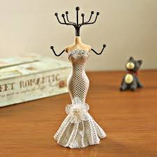 woman necklace holder images Fashion mannequin doll rack necklace retro earring ring jewelry jpg