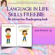 free let s talk about thanksgiving interactive book for speech language