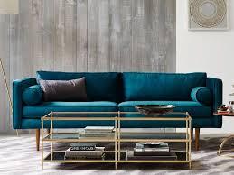 canap bleu p trole inspirations pour un canapé en velours joli place