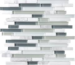 allen roth venatino linear mosaic stone and glass marble wall
