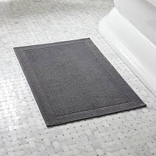 Cheap Bathroom Rugs And Mats Westport Grey Bath Rug In Bath Rugs Reviews Crate And Barrel