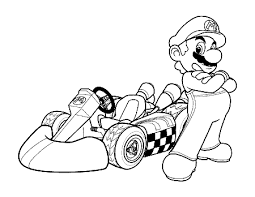 mario color sheets free download