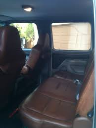 Ford F350 Truck Seats - leather seats in my truck wesley hansen