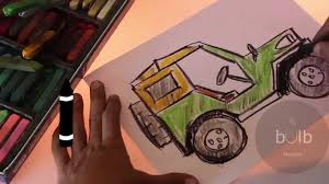 jeep artwork how to draw a jeep scribble for kids youtube