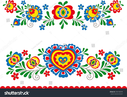 folk ornaments stock vector 308108549