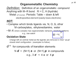 Electron Counting Organometallic Compounds Exles Organometallic Chemistry Ppt
