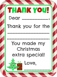 christmas thank you cards fill in the blank christmas thank you cards free printable free