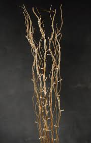 lighted willow branches gold willow branches 39in