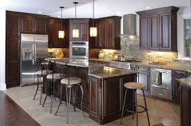 Espresso Kitchen Cabinets Espresso Kitchen Cabinets With Wood Floors U2014 Alert Interior The