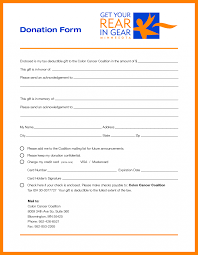Pledge Sheets For Fundraising Template by 7 Sle Donation Forms Resumed