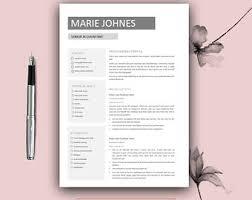 Free Designer Resume Templates Free Resume Template Etsy