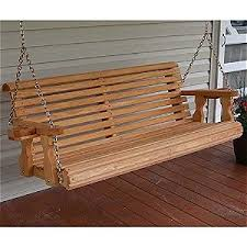 5 Ft Patio Swing With Cedar Pergola Create by Amish Porch Swings Reviews And Information Outsidemodern