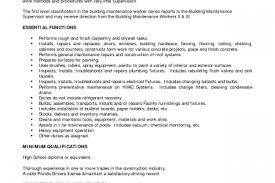 Maintenance Job Resume by Building Maintenance Mechanic Resume Reentrycorps
