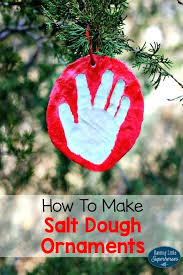 salt dough ornaments handprint salt dough ornaments