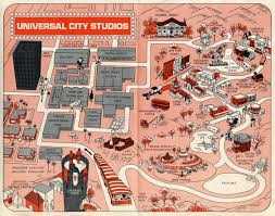 Universal Map 1968 Universal Studios Guide Map Universal City California U2022 Mappery