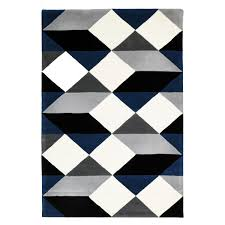 wool rug dresden navy u0026 grey geometric wool rug