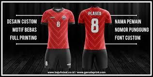 desain kaos futsal di photoshop pembuatan baju futsal dengan desain garis garis garuda print