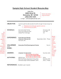 Job Resume Objective Examples by Sample Resume For High Students Resume For Your Job