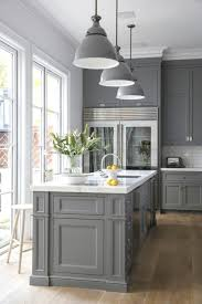 What Color White For Kitchen Cabinets Traditional Grey Kitchen Cabinet With Stylish Pendant Ls For