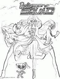 90 coloring pages barbie spy squad barbie princess power