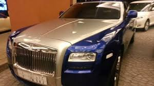 roll royce blue blue silver rolls royce ghost in dubai youtube