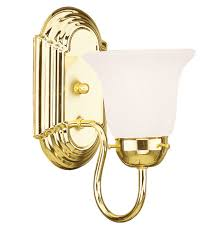 Polished Brass Bathroom Lighting Fixtures Livex 1071 02 Home Basics 1 Light 5 Inch Polished Brass Bath Light