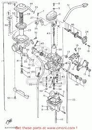 yamaha xt600ec 1995 s california carburetor schematic partsfiche
