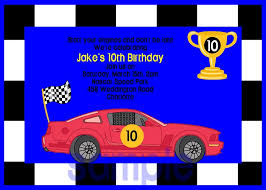 race cars birthday invitations printable or printed