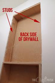 the craft patch how to build a shelf between studs house ideas