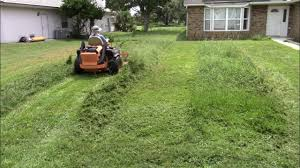 realtime mowing 20 full clips from vlog 48 tall grass clean up