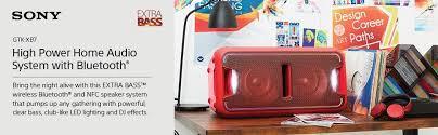 sony high powered bluetooth light up speaker gtk xb5 amazon com sony gtkxb7rc high power home audio system with