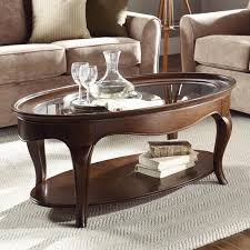 Ashley Furniture In Mishawaka Indiana American Drew Cherry Grove Oval Cocktail Table With Glass Top
