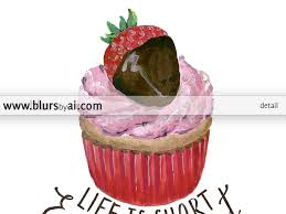 strawberry cupcake printable home decor life is short eat