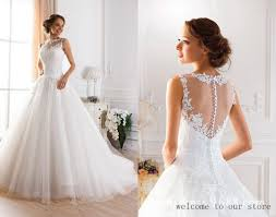 designer wedding dresses gowns discount 2015 lace wedding dresses sheer illusion gowns heart