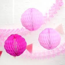 Pom Pom Decorations Tissue Paper Honeycomb Pom Pom Decoration By Peach Blossom