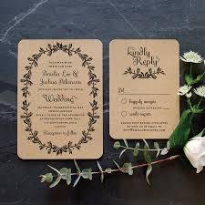 Vintage Wedding Invitation Card Rustic Recycled Wedding Invitation U0027vintage Wreath U0027 Elegant