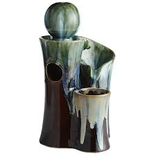 Home Decor Water Fountains by Ceramic Sculpture 3 Tier Tabletop Fountain Pier 1 Imports