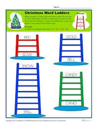 christmas worksheet activity word ladders