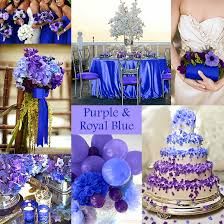 purple and blue wedding purple wedding color combination options royal blue weddings